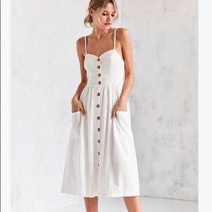 Urban Outfitters Emilia Linen Midi Dress